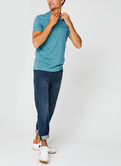 Kleding Calvin Klein Jeans Institutional Chest Logo Ss Tee Blauw onder