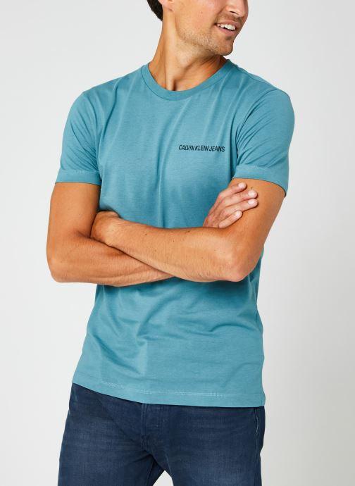 Kleding Calvin Klein Jeans Institutional Chest Logo Ss Tee Blauw rechts