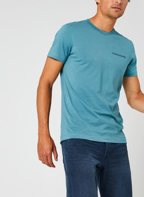 Kleding Calvin Klein Jeans Institutional Chest Logo Ss Tee Blauw detail