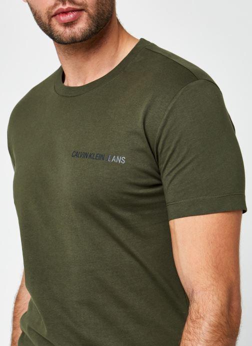 Vêtements Calvin Klein Jeans Institutional Chest Logo Ss Tee Vert vue face