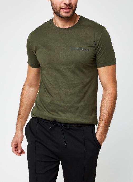 Vêtements Calvin Klein Jeans Institutional Chest Logo Ss Tee Vert vue détail/paire