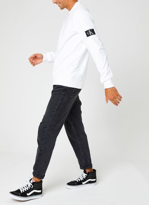 Kleding Calvin Klein Jeans Monogram Badge Crew Neck Wit onder