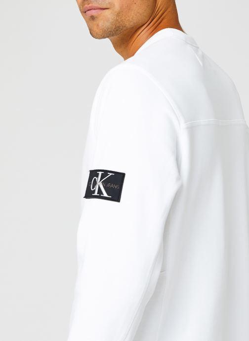 Kleding Calvin Klein Jeans Monogram Badge Crew Neck Wit voorkant