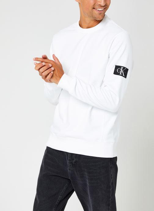 Kleding Calvin Klein Jeans Monogram Badge Crew Neck Wit detail