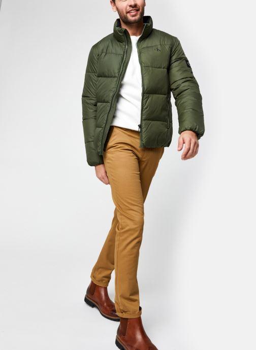 Kleding Calvin Klein Jeans Puffer Jacket Groen onder
