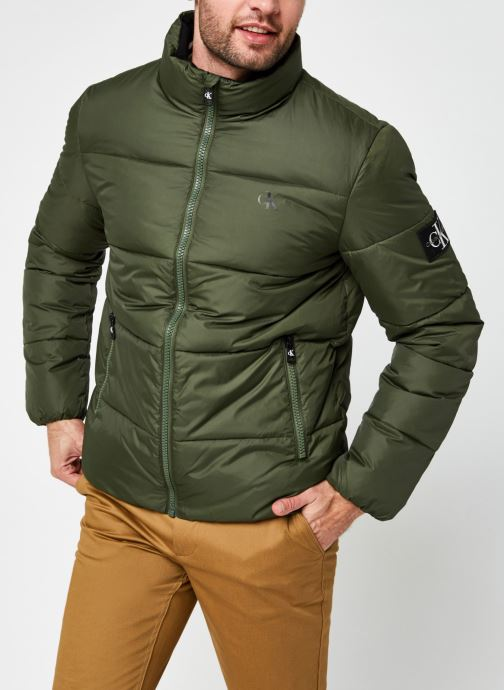 Kleding Calvin Klein Jeans Puffer Jacket Groen rechts