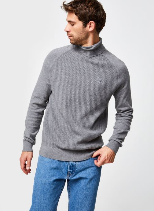 Pull - Cotton Cashmere Text Roll Neck