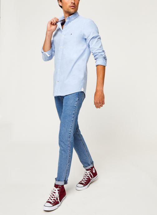 Vêtements Tommy Hilfiger Core Stretch Slim Oxford Shirt Bleu vue bas / vue portée sac