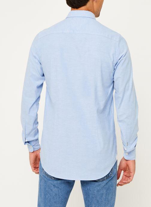 Vêtements Tommy Hilfiger Core Stretch Slim Oxford Shirt Bleu vue portées chaussures