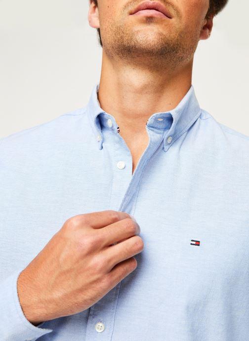 Kleding Tommy Hilfiger Core Stretch Slim Oxford Shirt Blauw voorkant