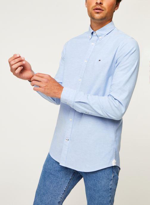 Vêtements Tommy Hilfiger Core Stretch Slim Oxford Shirt Bleu vue droite