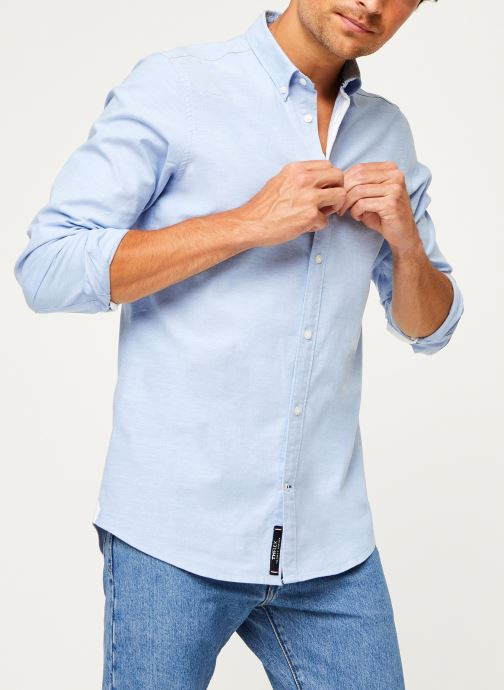 Kleding Tommy Hilfiger Core Stretch Slim Oxford Shirt Blauw detail