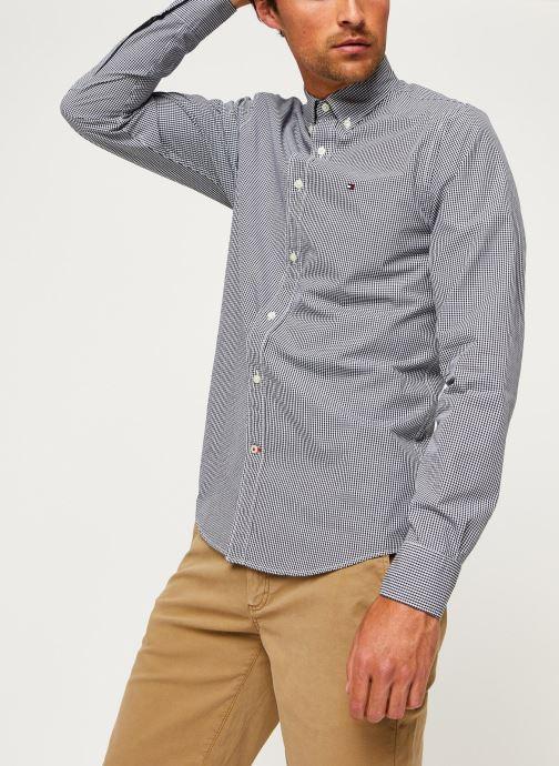Kleding Tommy Hilfiger Core Check Shirt Blauw rechts