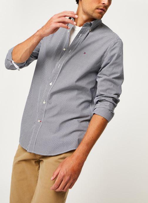 Kleding Tommy Hilfiger Core Check Shirt Blauw detail