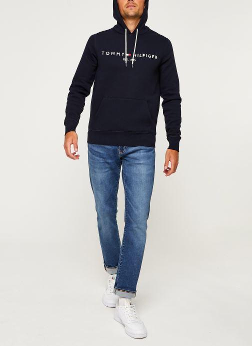 Vêtements Tommy Hilfiger Core Tommy Logo Hood Bleu vue bas / vue portée sac