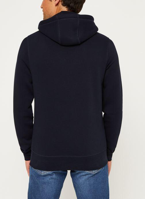 Vêtements Tommy Hilfiger Core Tommy Logo Hood Bleu vue portées chaussures