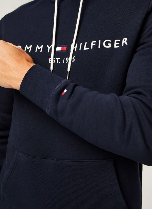 Vêtements Tommy Hilfiger Core Tommy Logo Hood Bleu vue face