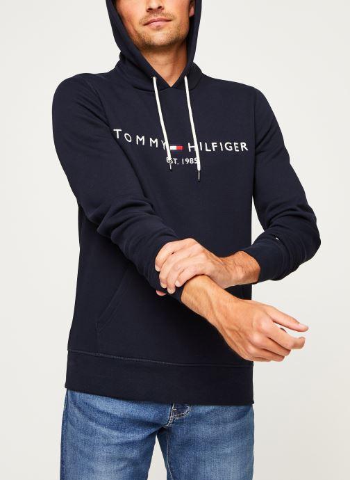 Vêtements Tommy Hilfiger Core Tommy Logo Hood Bleu vue détail/paire