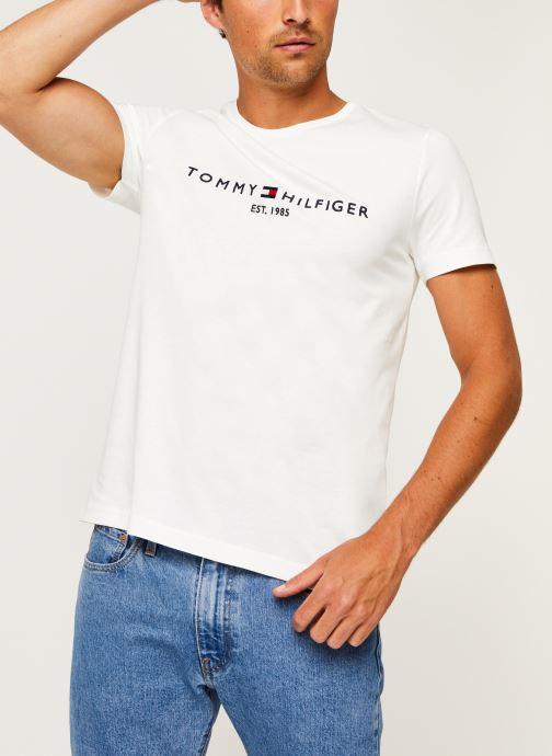 Kleding Tommy Hilfiger Core Tommy Logo Tee Wit detail