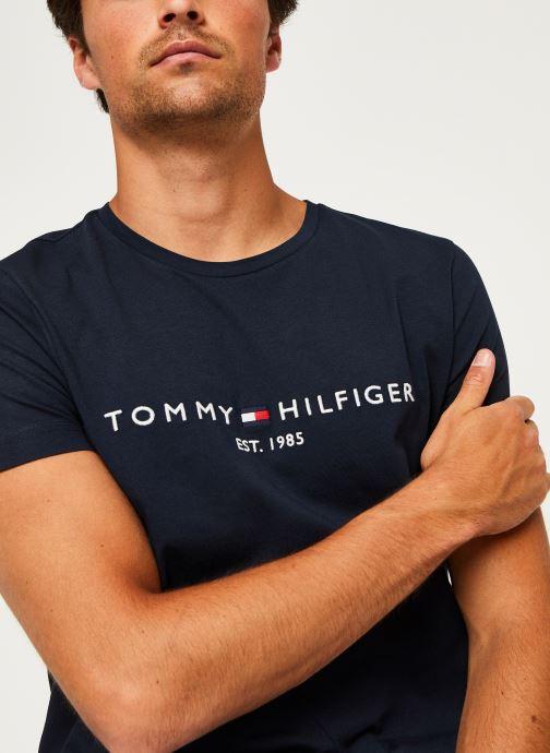 Kleding Tommy Hilfiger Core Tommy Logo Tee Blauw voorkant