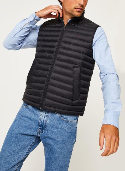 Vêtements Tommy Hilfiger Core Packable Down Vest Noir vue droite