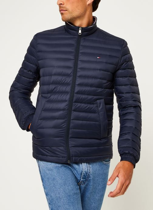 Vêtements Tommy Hilfiger Core Packable Down Jacket Bleu vue droite