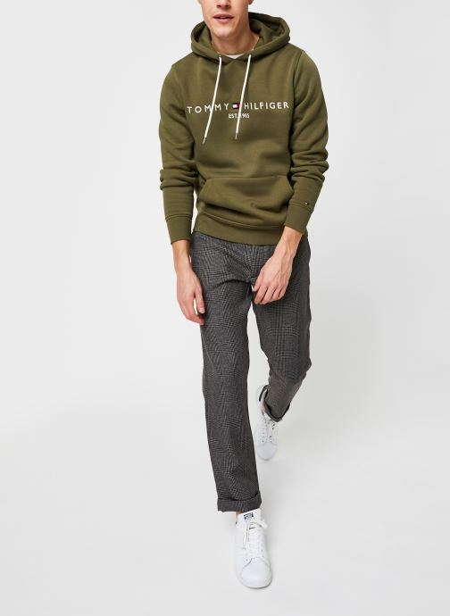 Vêtements Tommy Hilfiger Tommy Logo Hoody Vert vue bas / vue portée sac