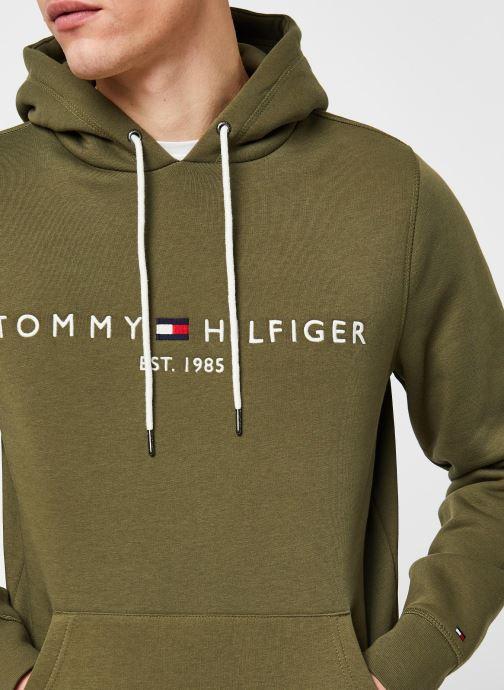 Vêtements Tommy Hilfiger Tommy Logo Hoody Vert vue face