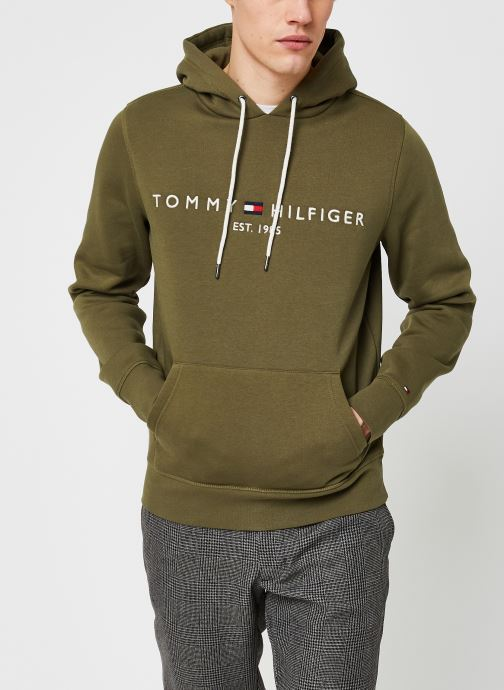 Vêtements Tommy Hilfiger Tommy Logo Hoody Vert vue droite