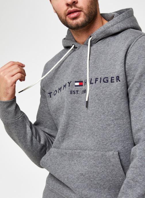 Vêtements Tommy Hilfiger Tommy Logo Hoody Gris vue face