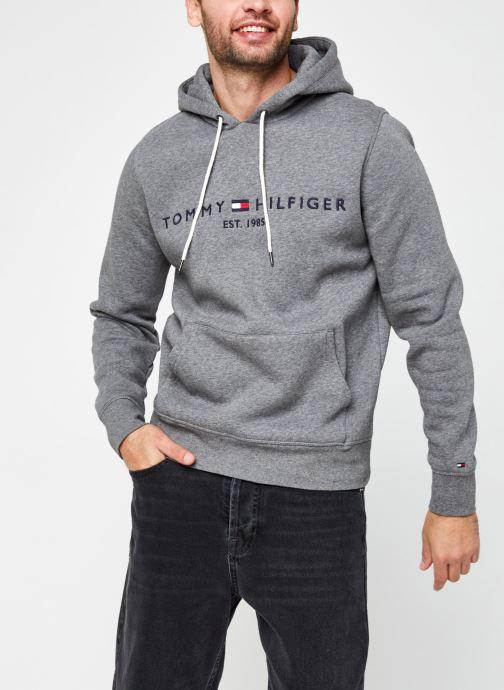 Vêtements Tommy Hilfiger Tommy Logo Hoody Gris vue droite