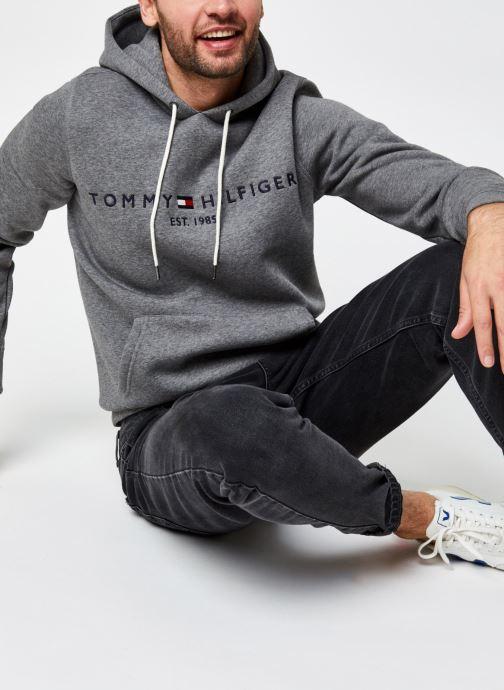 Vêtements Tommy Hilfiger Tommy Logo Hoody Gris vue détail/paire
