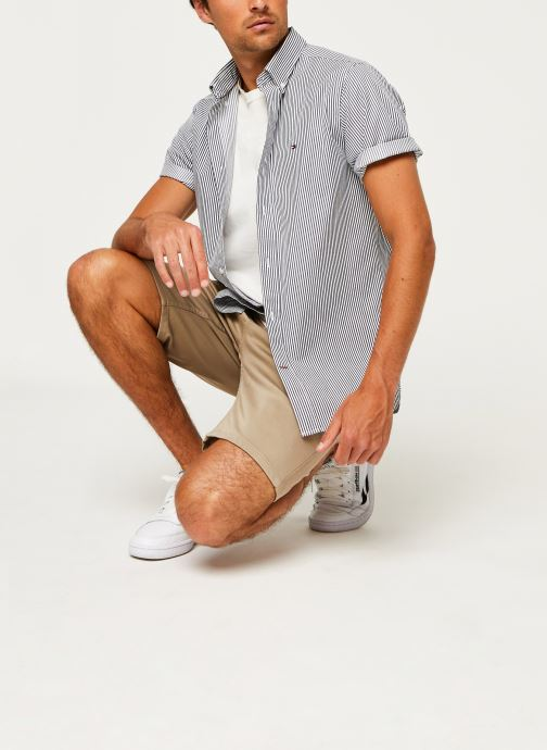Kleding Tommy Hilfiger Classic Twill Stripe Shirt S/S Wit onder