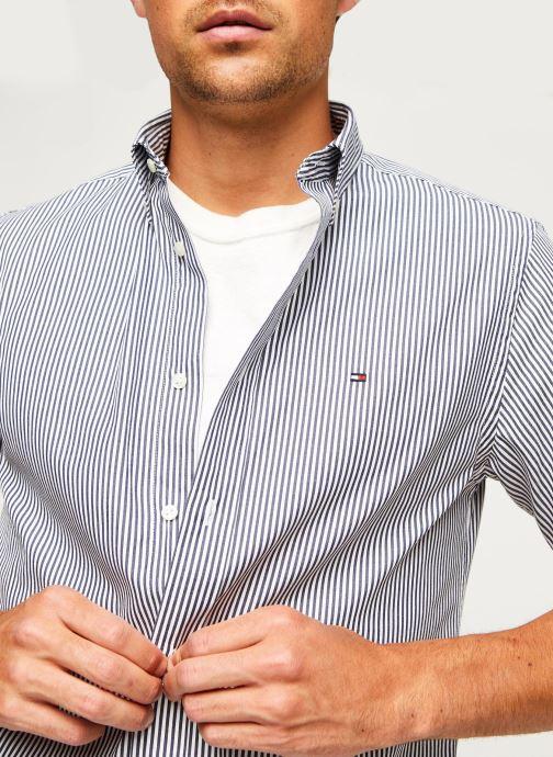Kleding Tommy Hilfiger Classic Twill Stripe Shirt S/S Wit voorkant