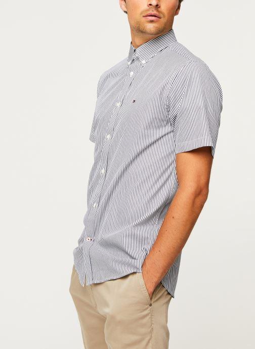 Kleding Tommy Hilfiger Classic Twill Stripe Shirt S/S Wit rechts