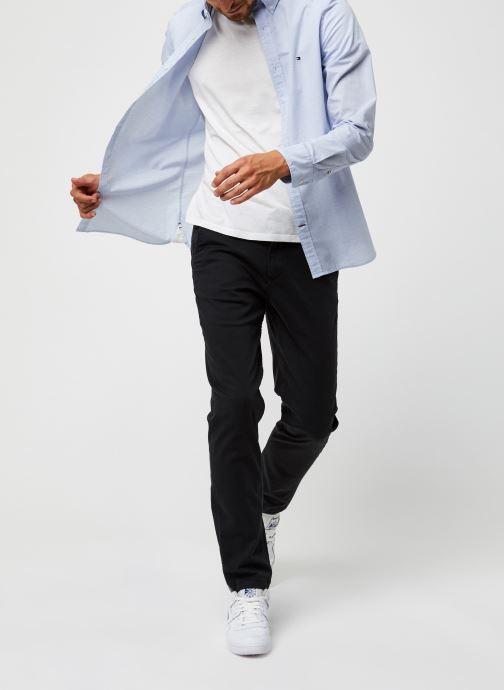 Vêtements Tommy Hilfiger Slim Small Slub Stripe Shirt Bleu vue bas / vue portée sac