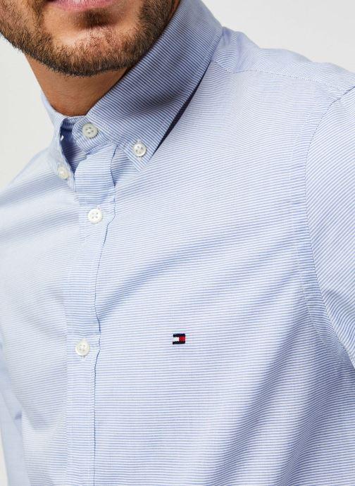 Vêtements Tommy Hilfiger Slim Small Slub Stripe Shirt Bleu vue face