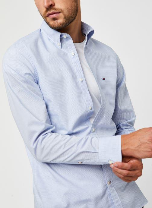 Vêtements Tommy Hilfiger Slim Small Slub Stripe Shirt Bleu vue détail/paire