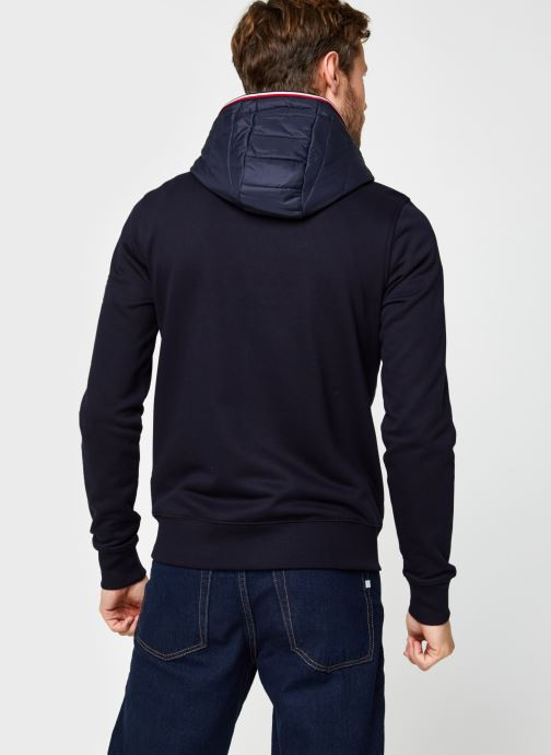 Kleding Tommy Hilfiger Mixed Media Hooded Zip Through Blauw model