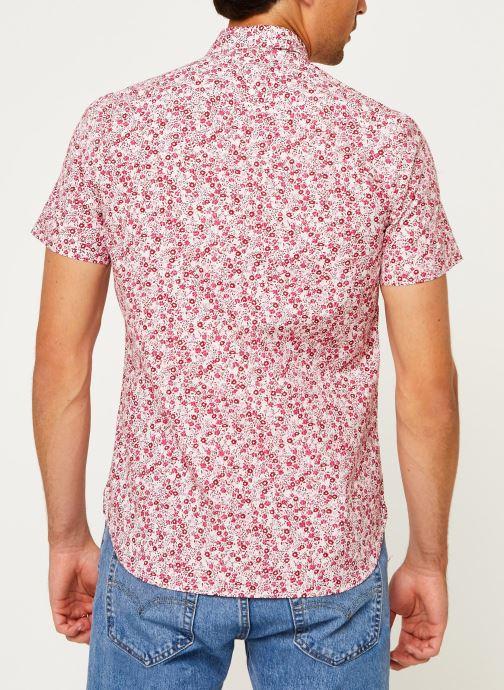 Kleding Tommy Hilfiger Slim Natural Soft Prt Shirt S/S Rood model