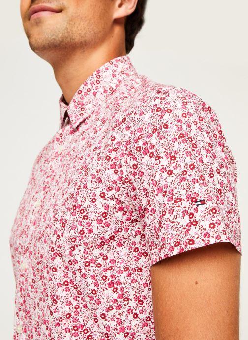 Kleding Tommy Hilfiger Slim Natural Soft Prt Shirt S/S Rood voorkant