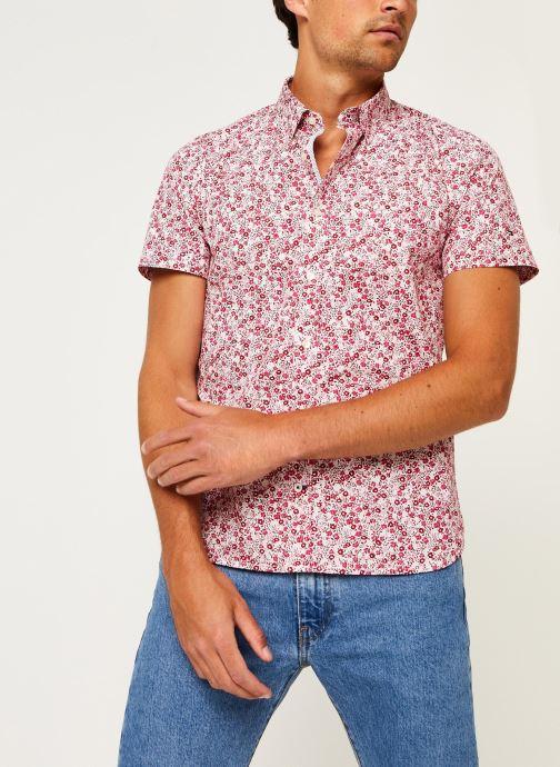 Kleding Tommy Hilfiger Slim Natural Soft Prt Shirt S/S Rood detail