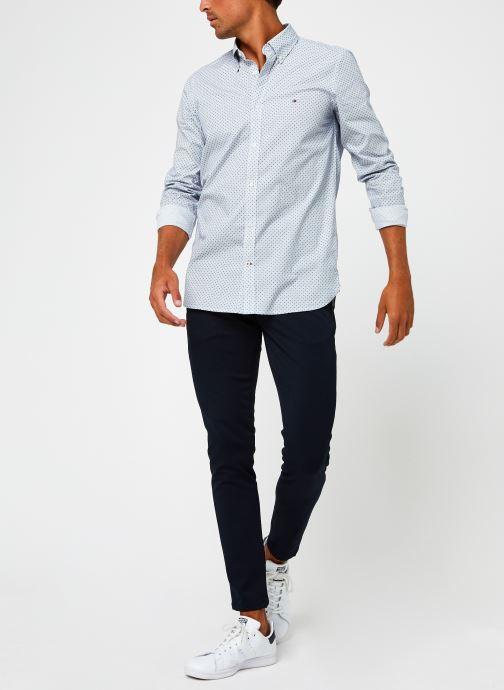 Vêtements Tommy Hilfiger Slim Dot Print Shirt Bleu vue bas / vue portée sac