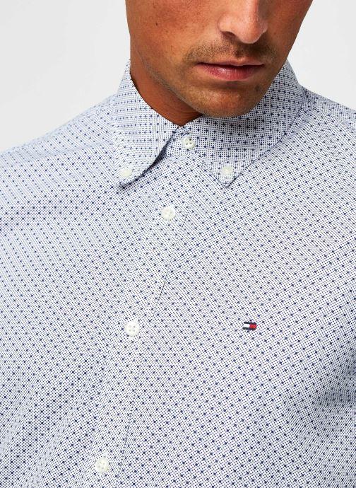 Vêtements Tommy Hilfiger Slim Dot Print Shirt Bleu vue face