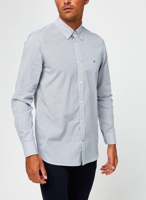 Vêtements Tommy Hilfiger Slim Dot Print Shirt Bleu vue droite