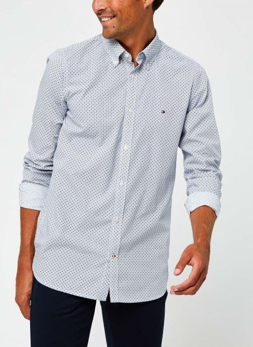 Vêtements Tommy Hilfiger Slim Dot Print Shirt Bleu vue détail/paire
