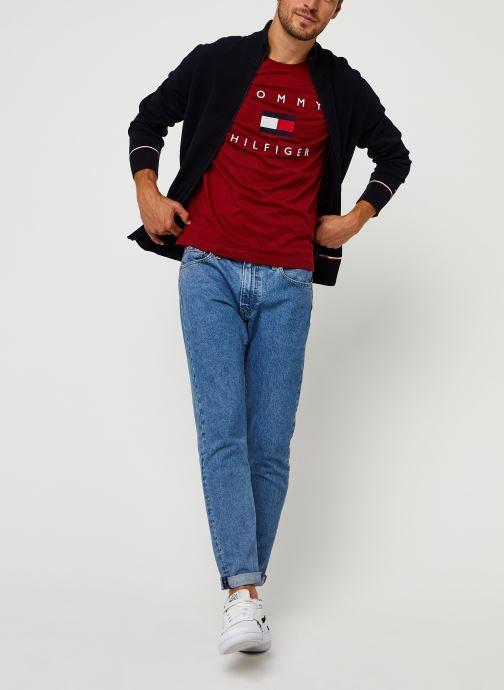 Vêtements Tommy Hilfiger Structured Branded Zip Through Bleu vue bas / vue portée sac