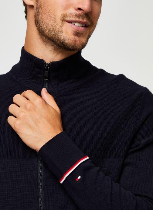 Vêtements Tommy Hilfiger Structured Branded Zip Through Bleu vue face