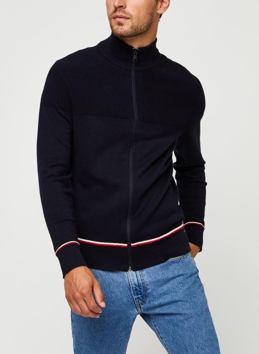 Vêtements Tommy Hilfiger Structured Branded Zip Through Bleu vue droite