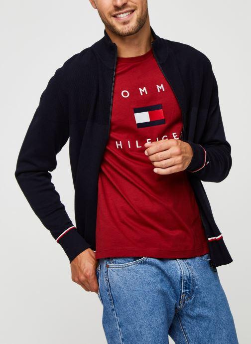 Vêtements Tommy Hilfiger Structured Branded Zip Through Bleu vue détail/paire